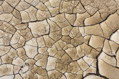 Texture of land dried up by drought, the ground cracks background Royalty Free Stock Images