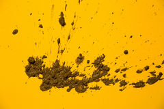 Texture land in yellow background Royalty Free Stock Photography