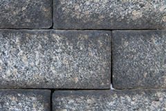 Texture of large block stones wall Royalty Free Stock Photos