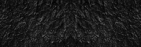 Texture large de mur noir de plâtre - backgroun grunge foncé spacieux photos libres de droits