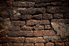 Texture of Laterite stone wall Royalty Free Stock Photos