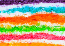 Texture layer of Rainbow cake Royalty Free Stock Photography