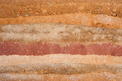 Texture layers of earth. Soil texture layers for natural background royalty free stock images