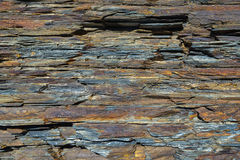 Texture layers metamorphic rocks Royalty Free Stock Photo