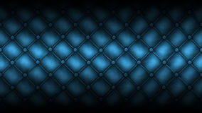 Texture leather quilted a sofa. BLue color Stock Image