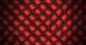 Texture leather quilted a sofa. Red color Royalty Free Stock Image