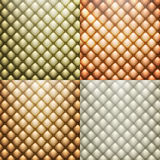 Texture leather set vector. EPS 10 Royalty Free Stock Photos