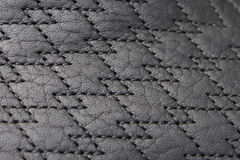 Texture of leather and stitch. Stock Photography