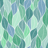 The texture of the leaves. Seamless pattern. royalty free illustration