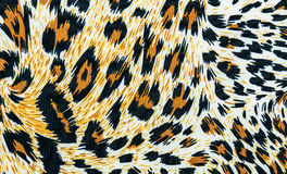 The texture of leopard leather Stock Photography