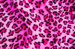 Texture of leopard striped fabric Royalty Free Stock Image