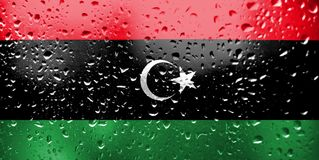 Texture of Libya flag stock photo