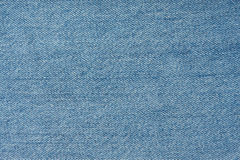 Texture of light blue jeans Royalty Free Stock Photos