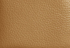 Texture of Light Brown Colored Genuine Leather, Closed up for Background. Pattern Royalty Free Stock Photos