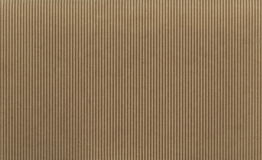 Texture - light brown corrugated cardboard Royalty Free Stock Photos