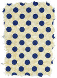 Isolated Rice Paper Texture - Blue Polka Dots XXXXL stock image