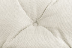 Texture of light fabric with pleats and buttons. Background Royalty Free Stock Photos
