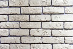 The texture of light yellow bricks for decoration of the facade of the building or interior stock images