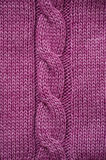 Texture of lilac knitted fabric for the background Stock Image