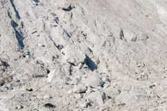 Texture limestone with natural light. Mountain of limestone waste in the industrial zone Stock Photography