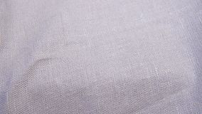 Texture of linen fabric. Close up. It can be used as a background stock video