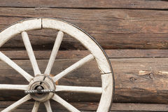 Texture from logs and a wheel from a vehicle Royalty Free Stock Photography