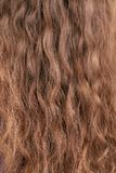 Texture of long blond hair. Stock Photo