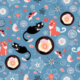 Texture love cats Royalty Free Stock Images