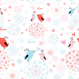 Texture love little birds Royalty Free Stock Photo