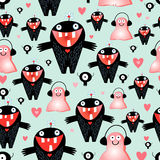 Texture love monsters Royalty Free Stock Images