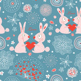 Texture love rabbits Stock Photo