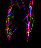 Texture lumineuse légère colorée sur le noir photographie stock libre de droits