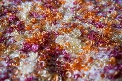 Texture lumineuse Tissu tricoté fil de fantaisie Fil de Buculent Image libre de droits