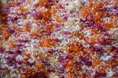 Texture lumineuse Tissu tricoté fil de fantaisie Fil de Buculent Photo libre de droits