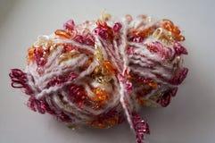 Texture lumineuse Tissu tricoté fil de fantaisie Fil de Buculent Photographie stock