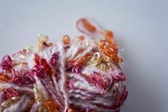 Texture lumineuse Tissu tricoté fil de fantaisie Fil de Buculent Photos libres de droits