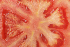 Texture macro sliced tomatoes Royalty Free Stock Photography