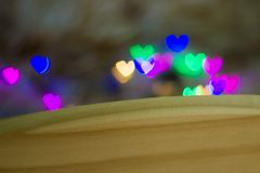 Texture made of defocused colorful background with heart shaped royalty free stock photo