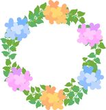 The wreath of flowers Royalty Free Stock Photos
