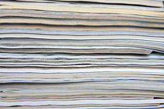 Texture magazines stacked Royalty Free Stock Photos