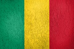 Texture of the Flag of Mali. The texture of Mali flag on the wall of the plaster Stock Photos