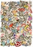 Texture malpropre d'alphabet Photo stock