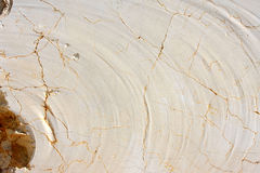 Texture of marble block near quarry, Spain Stock Image