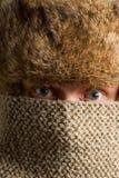 Texture mask portrait stock photography
