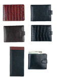 Texture of men's wallet Royalty Free Stock Images
