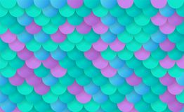 Texture of Mermaid Scale. S, Holographic Mermaid Tail Pattern for Background, Fish Skin Magic Background Stock Photos