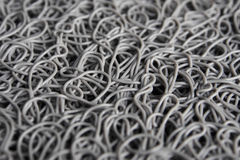 Texture of messy curly plastic fiber stock images