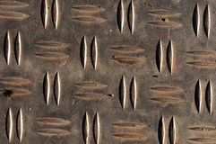 Texture of metal. Metal plate close up with pattern royalty free stock photography