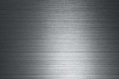 Texture of metal. Silver texture metal with horizontal stripes Royalty Free Stock Photos