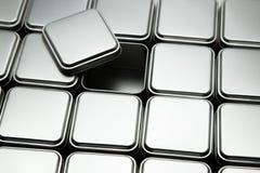Texture of metal box Stock Photos